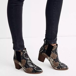 Madewell The Regan Boot in Snake Embossed Leather